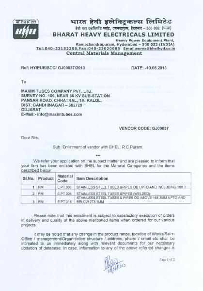 Bharat Heavy Electricals Ltd – Hyderabad